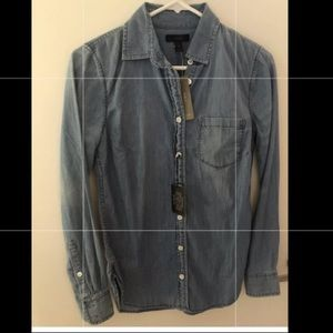 JCrew Chambray Shirt 00 NWT